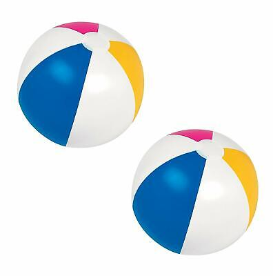 "2x Inflatable Blow-Up Panel Beach Ball 20"" Fun Holiday Party Swimming Garden Toy"