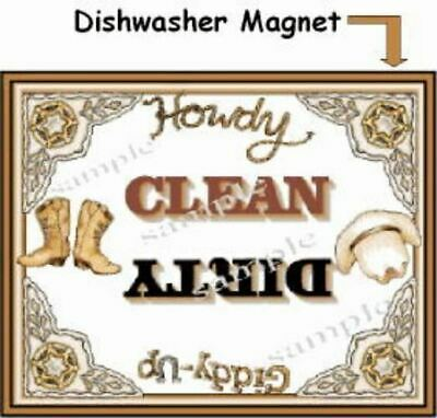 Western  Dishwasher Magnet Clean Dirty portable