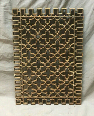 Antique Cold Air Return Cast Iron Gothic Design Grate 21x15 290-19L