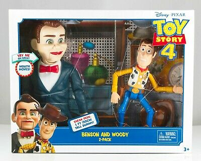 New Disney Pixar Toy Story 4 Movie Benson & Woody 2 Pack Posable Action Figures