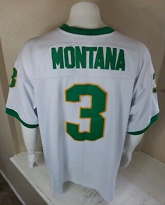 hot sale online 30b50 1d869 JOE MONTANA ADIDAS True School Notre Dame Jersey Mens Large ...