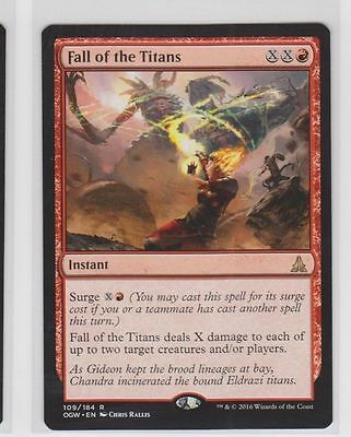 Fall of the Titans Oath of the Gatewatch Magic The Gathering MTg  Rare red