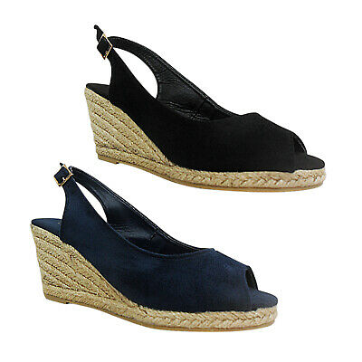 f693d825d73 NEW WOMENS LADIES Mid Low Wedge Flatforms Espadrilles Summer Sandals ...