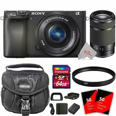 Sony Alpha a6400 Mirrorless Digital Camera with 16-50 and 55-210mm Lens and Kit
