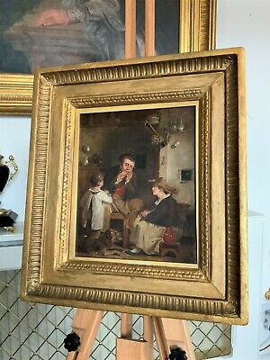 STUDIO OF Sir David Wilkie R.A (1785-1841) 'THE JEWS HARP' OIL PORTRAIT PAINTING