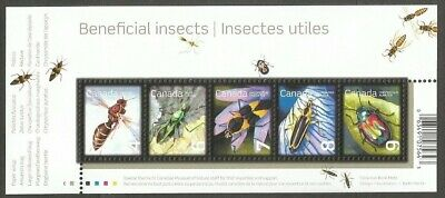 Canada Stamps Beneficial Insects 4C 6C 7C 8C 9C Stamps Sm Souvenir Sheet
