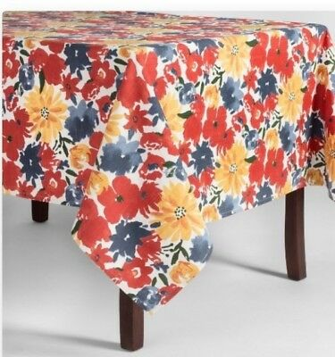 52x70 nwop   #K58 60x84 Threshold Floral Tablecloth 60x104