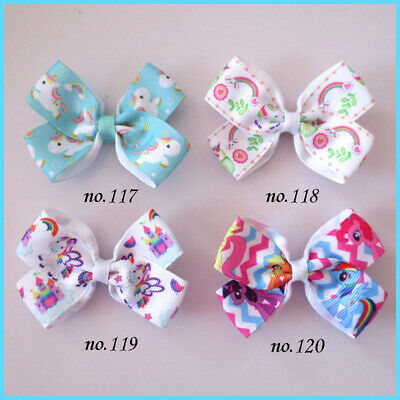 "1000 BLESSING Good Girl 2.75/"" Angel Hair Bow Clip Unicorn Accessories Wholesale"
