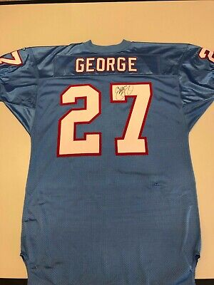 free shipping 3da8f 967bc EDDIE GEORGE SIGNED autographed Oilers authentic stitched jersey TRISTAR
