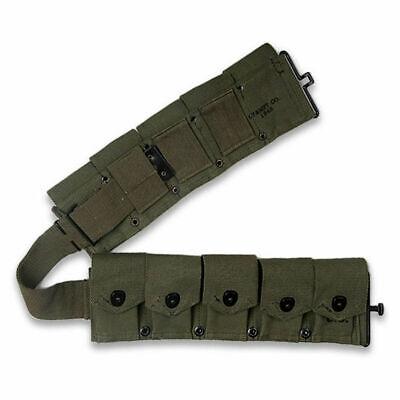 Wwii Ww2 Us Army Soldier M-1923 Cartridge Belt Green Classical Repro