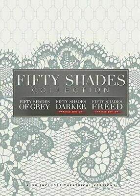 Fifty Shades: 3-Movie Collection of Grey, Darker, Freed (DVD, 3-Disc Set) NEW