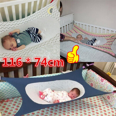 Baby Folding Oxford Cot Bed Travel Playpen Hammock Holder Crib Portable E3
