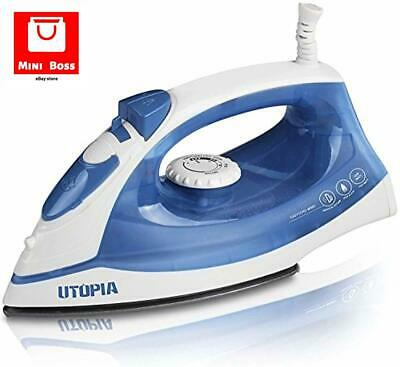Utopia Home Steam Iron with Nonstick Soleplate Small Size Lightweight For Travel