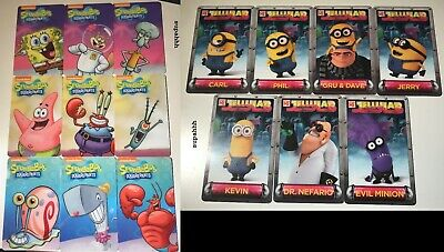 Dave & Buster's Spongebob and Minions 2 FULL SETS