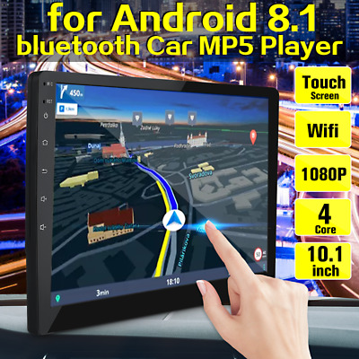 10.1'' Android 8.1 Car Stereo Radio MP5 Player 2DIN Touch Wifi GPS Navi HD CAM