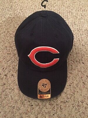 dddc746927ff9f CHICAGO BEARS FRANCHISE Fitted Large 47 Brand Hat Cap B Cursive NFL ...