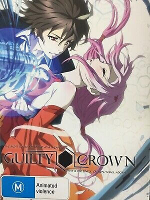 GUILTY CROWN - The Complete Series 4 x DVD Box Set Episodes 1-22