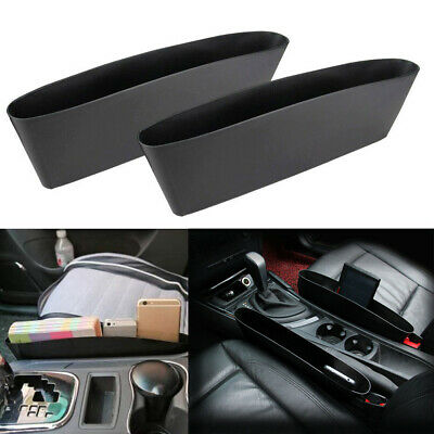 2x Car Seat Seam Storage Organizer Pouch Bag Holders For Phone Coin Accessories