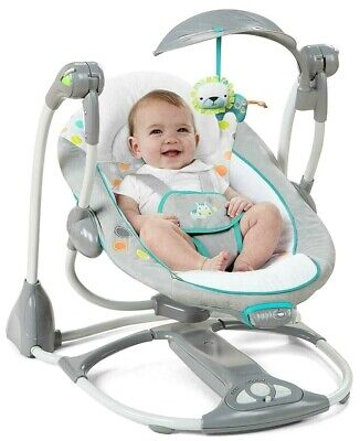 Ingenuity Convertme Swing 2 Seat Portable Swing Ridgedale Top Quality Durable