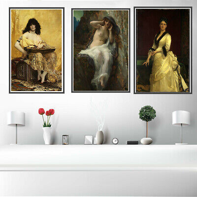Venice View Women Canvas Painting Poster Home Corridor Wall Hangings Art Decor