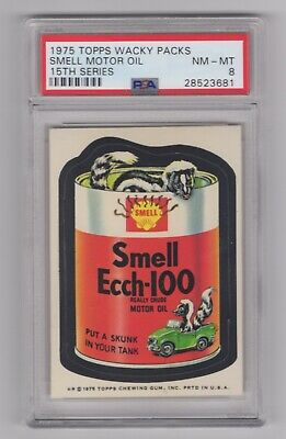 1975 Topps Wacky Packages 15th Series * Smell Ecch * PSA 8