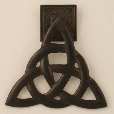 "Door Knocker Irish Brass Trinity Knot Antique Bronze Measures 5.5 ""x 5 """