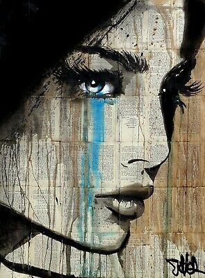 Urban Art Beautiful Woman Stretched Canvas Prints  Abstract Different Girl