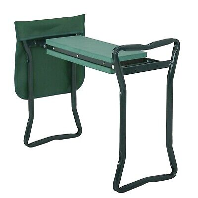 Garden Kneeler Pad And Seat Stool Bench W Tool Pouch Outdoor Work Portable NEW