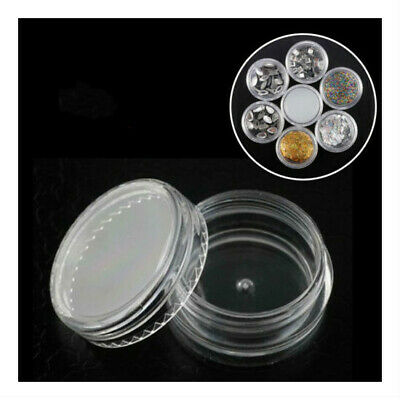 5ML Clear Plastic Empty Cosmetic Sample Pots Art Craft Storage Containers Jars@