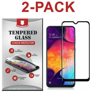 2 Full Cover Tempered Glass Screen Protector For Samsung Galaxy A70 A50 A40 A30