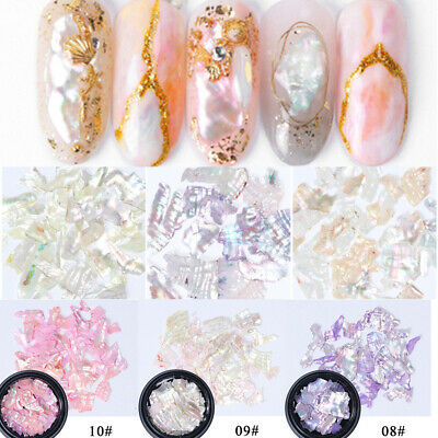 Nail Art Irregular Shell Sequin Slices Crushed DIY Manicure Decor Accessories
