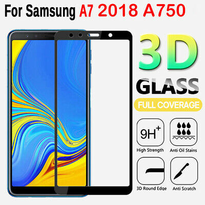 For Samsung Galaxy A7 2018 A750 3D Full Cover Tempered Glass Screen Protector Y1