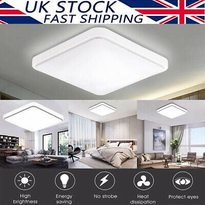 Bright Square LED Ceiling Down Light Kitchen Bathroom Bedroom Panel Wall Lamp