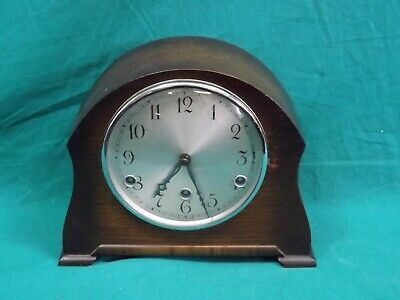 Vintage Working Perivale Wind-Up Chiming Mantle Clock.  (Hospiscare)