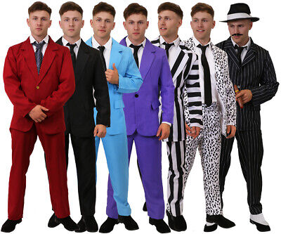 Mens Suit & Tie Choice Movie Novelty Stag Do Party Tuxedo Outfit Fancy Dress Lot
