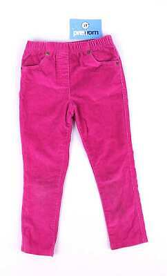George Girls Pink Corduroy Trousers Age 3-4