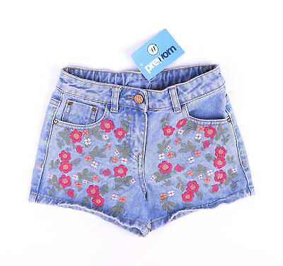 George Girls Blue Floral Shorts Age 6-7