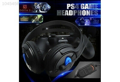 8563 New Wired Gaming Headset For Sony Playstation4 PS4 W/MIC Superbass Black