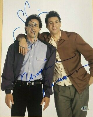 Michael Richards Jerry Seinfeld signed autographed 11x14 Photo BECKETT COA