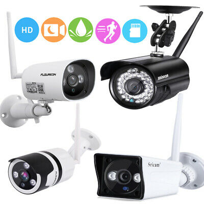 1080P 720P Wireless Wifi CCTV Security IP Camera Night Vision SD Waterproof UK