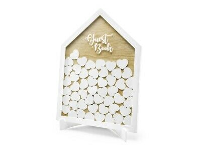 Wooden Drop Box Guest Book Alternative Frame 50 Wedding Wishes Tokens