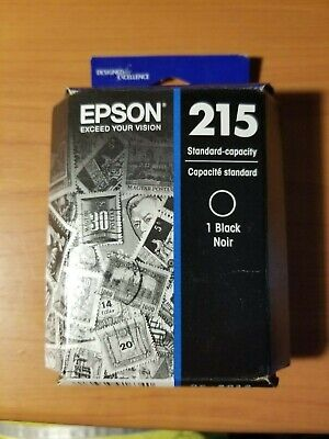 New Genuine OEM - Epson 215 Black Ink Cartridges - FACTORY SEALED - Exp 2019