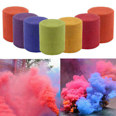 Smoke Cake Colorful Effect Show Round Bomb Stage Photography Aid Toy Gifts 1PC