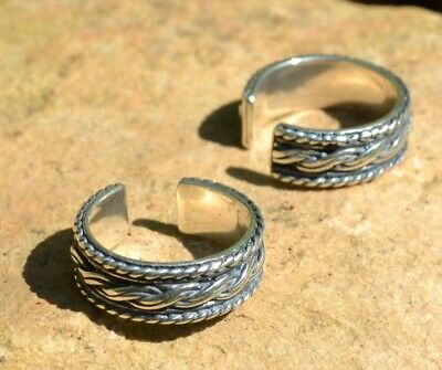 KNOTTED STERLING NORSE RING FGJ137 Viking, Pagan