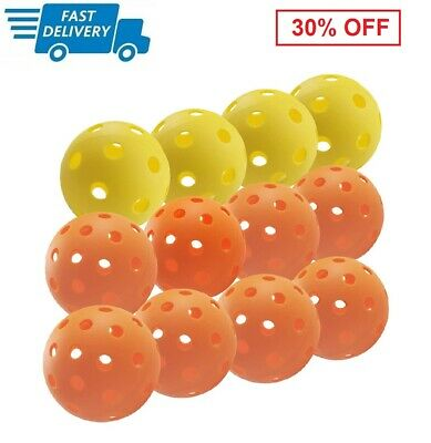 Set of 12 Pickleball Ball Outdoor 8 Ball Pickleball Ball Indoor 4 Ball USAPA