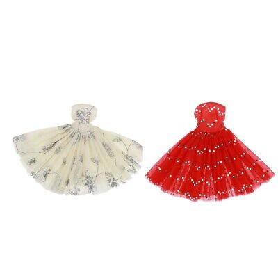 Doll Tube Top Dress for BJD Doll 1:4 Evening Party Dresses Doll Clothes