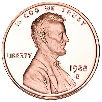 1988 S Lincoln Memorial Cent Gem Deep Cameo Proof Penny
