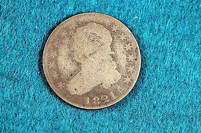 1821 Estate Find Capped Bust Quarter!! #F5898