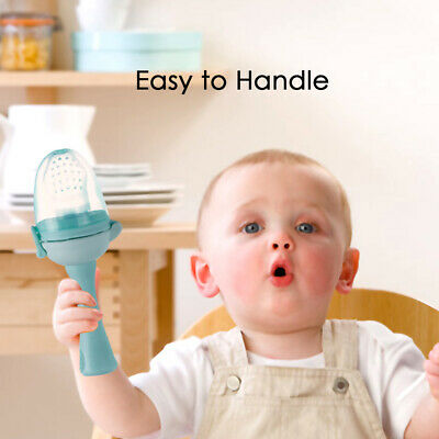 Baby Food Fruit Nipple Feeder Safety Silicone Pacifier Feeding Tool Teether L7J6
