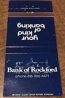 Matchbook Cover Bank Of Rockford Your Kind Of Banking